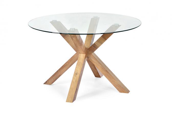 table manger ronde verre tremp turis table manger pas cher. Black Bedroom Furniture Sets. Home Design Ideas