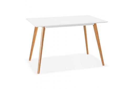 Table A Manger Scandinave Bois Blanc Figueras Table Salle A