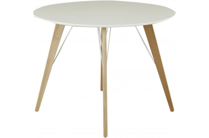 table manger scandinave ronde blanche d100 renan table. Black Bedroom Furniture Sets. Home Design Ideas