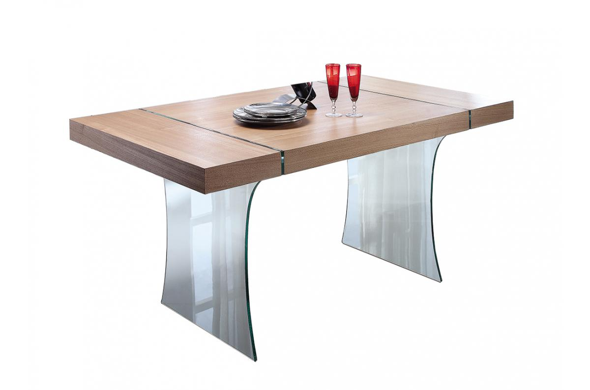 Table A Manger Verre Bois Hululu Table Salle A Manger Pas Cher