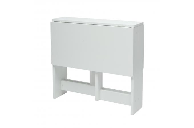 Table Avec 2 Plateaux Rabattables Blanc Alfeo