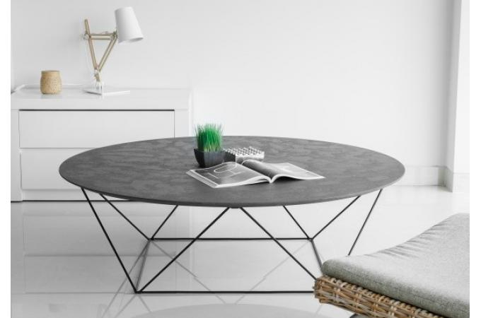table basse avec plateau en imitation b ton cir copa table basse pas cher. Black Bedroom Furniture Sets. Home Design Ideas