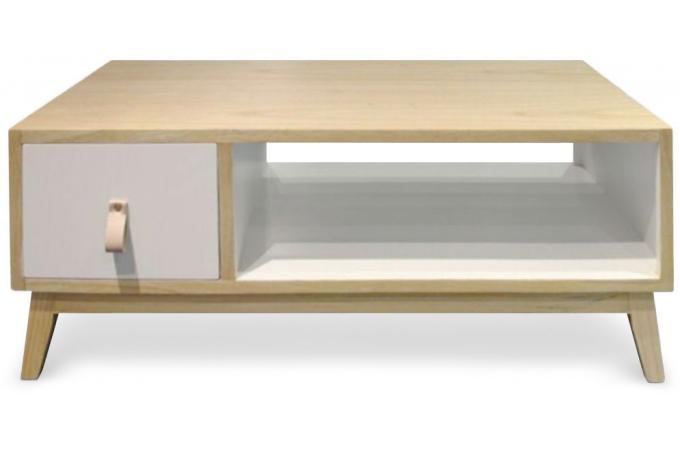 table basse avec tiroir style scandinave blanc acqua table basse pas cher. Black Bedroom Furniture Sets. Home Design Ideas