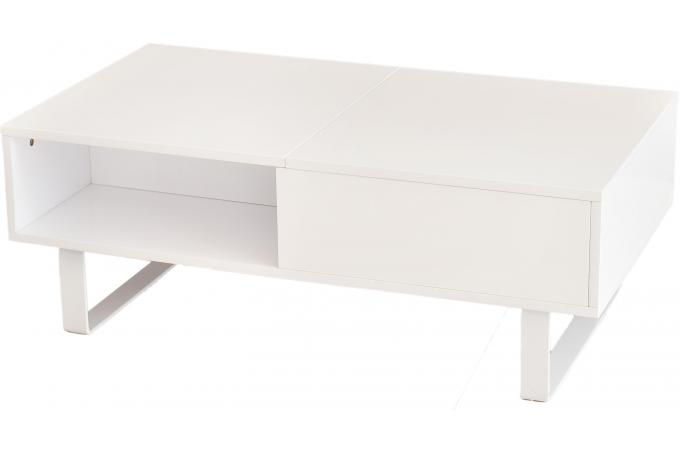 table basse blanche avec plateau relevable melvin table basse pas cher. Black Bedroom Furniture Sets. Home Design Ideas