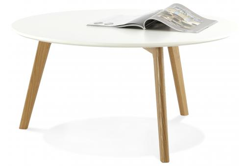 table basse blanche ronde scandinave elsa table basse pas cher. Black Bedroom Furniture Sets. Home Design Ideas
