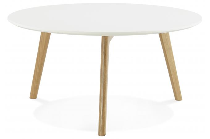 Table basse blanche ronde scandinave elsa table basse for Table ronde scandinave blanche