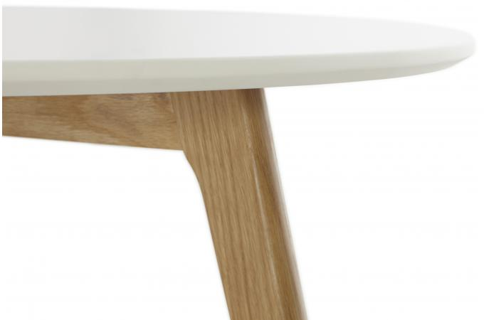 Table basse blanche ronde scandinave elsa table basse pas cher - Table basse ronde blanche pas cher ...