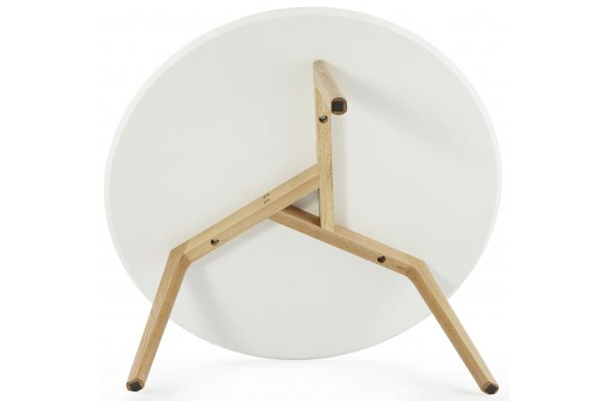 Emejing table basse blanche scandinave contemporary for Fabriquer table basse ronde