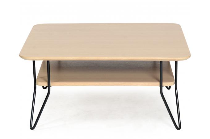 Table basse carr e scandinave en ch ne geo table basse for Table basse scandinave carree
