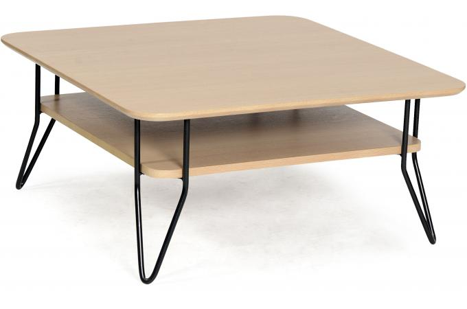 Table basse carr e scandinave en ch ne geo table basse for Table scandinave carree