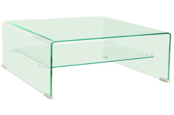table basse carr e en verre transparent otta table basse pas cher. Black Bedroom Furniture Sets. Home Design Ideas