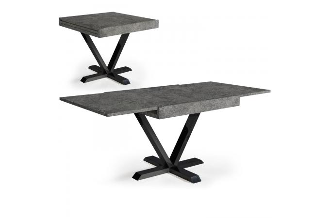 table basse design r tractable effet b ton gris well table console pas cher. Black Bedroom Furniture Sets. Home Design Ideas