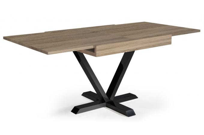 Table Basse Design Retractable Effet Chene Clair Well Table