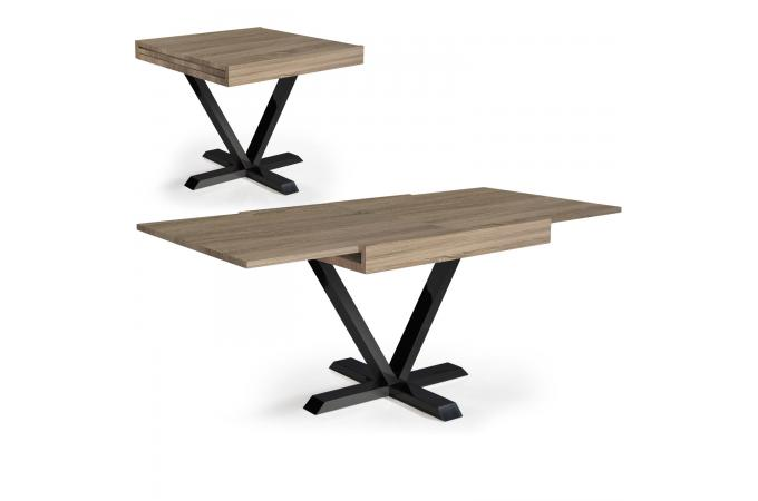 Table basse design r tractable effet ch ne clair well table relevable pas cher - Table basse chene clair pas cher ...