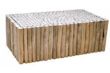 dc37157c0ea DeclikDeco - Table Basse Rustique en Bois 114x64cm SILVEST - Table design
