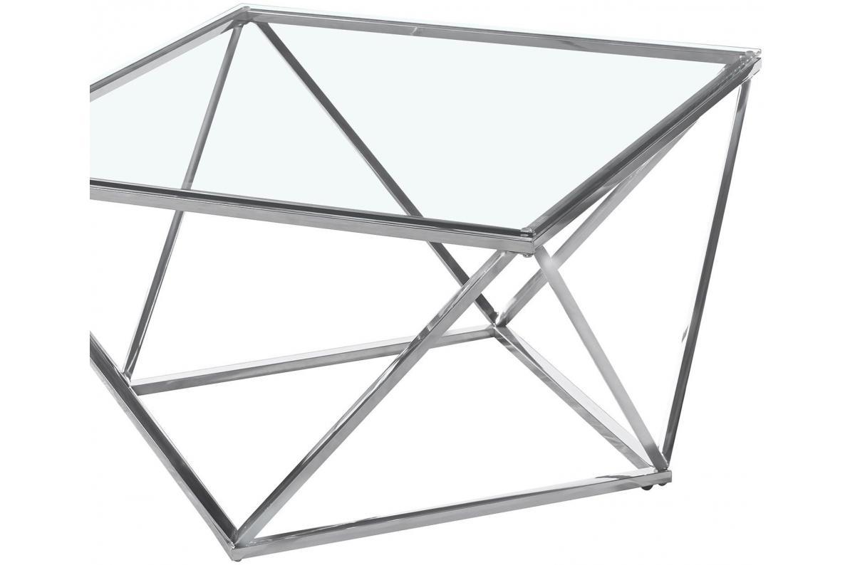 Table Basse En Verre Transparent Et Pieds Argent Blake Table