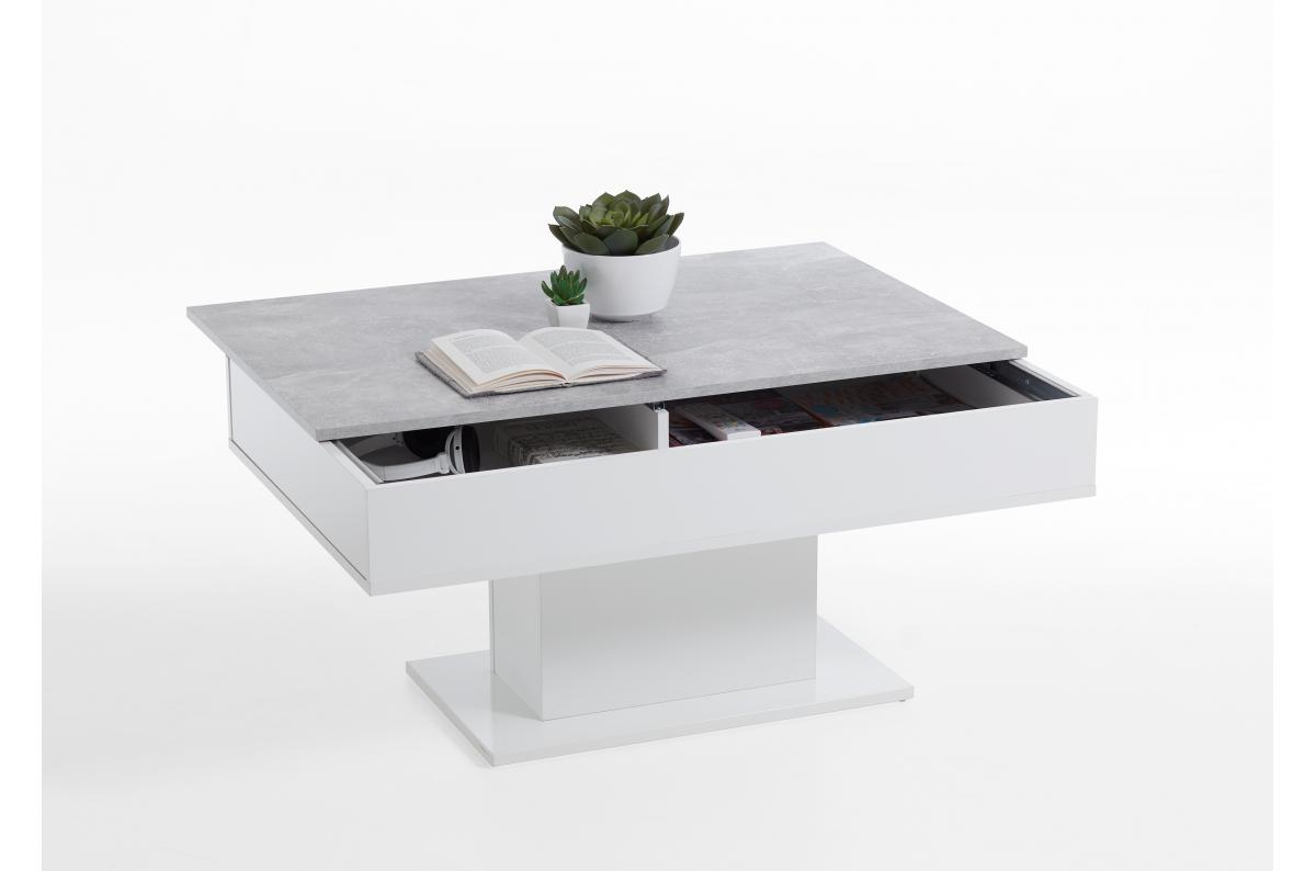 Table Basse Extensible Bois Blanc Ayr Table Basse Pas Cher