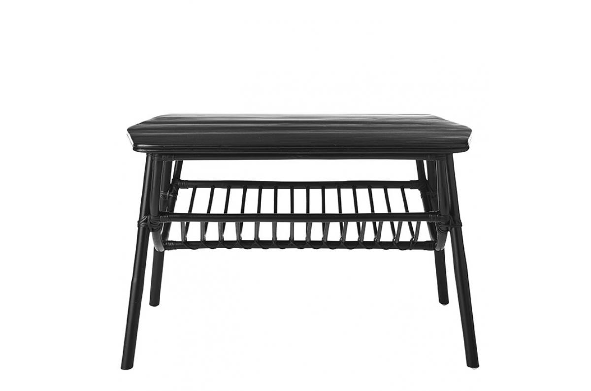 Table Basse Extérieur Rotin Noir ROTINO Plus d\'infos