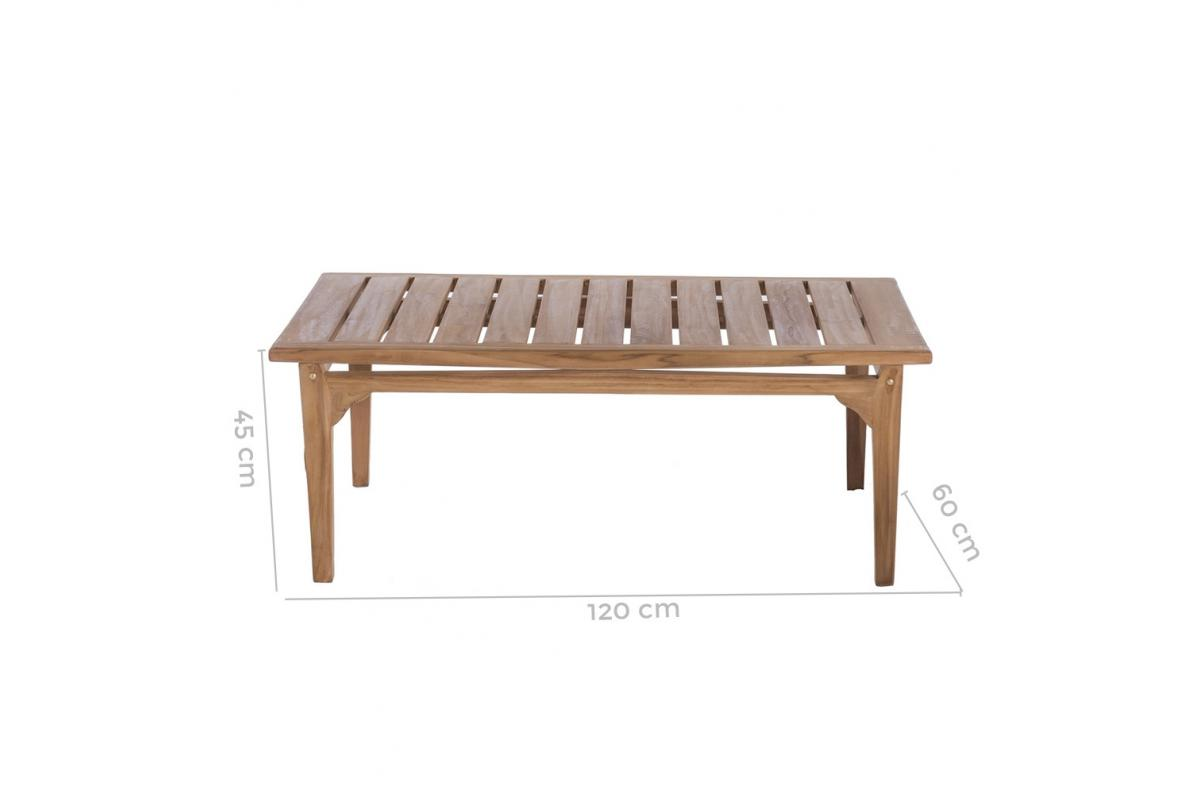 Table Basse Exterieur Teck Marron Paola Table Basse De Jardin