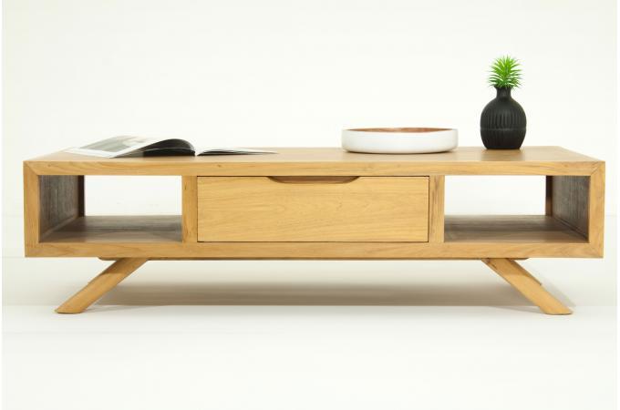 Table Basse Emission Maison A Vendre ~ Table Basse MATTEO En Teck Massif Naturel  Table Basse Pas Cher