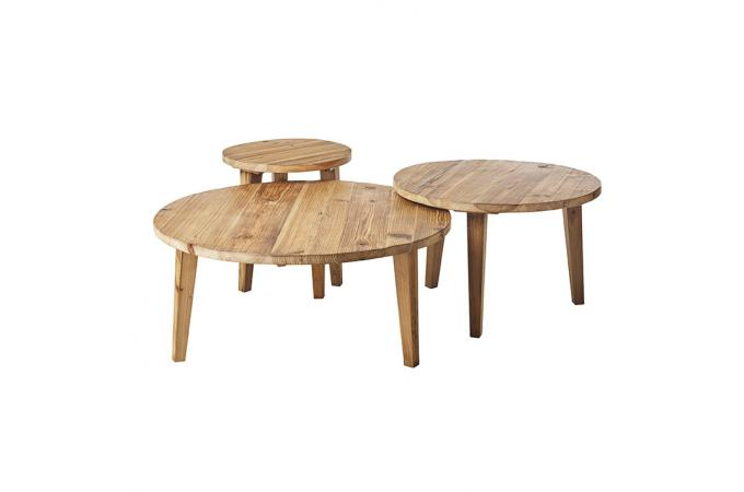 table basse gigogne bois massif ratunel table basse pas cher. Black Bedroom Furniture Sets. Home Design Ideas