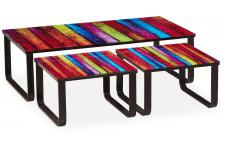 Table Basse Gigogne Multicolore UNICORN - Table basse design