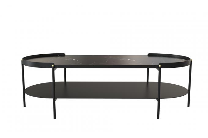 Table Basse Noir Métal Unica Table Basse Pas Cher