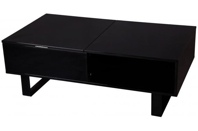 Table Basse Noire Avec Plateau Relevable Melvin Plus D Infos