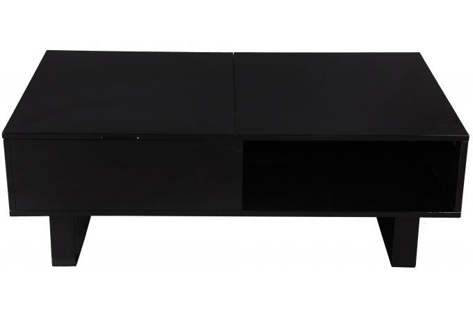 table basse noire avec plateau relevable melvin table basse pas cher. Black Bedroom Furniture Sets. Home Design Ideas