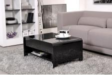 Table basse noire demi plateau relevable JUMP - Table design