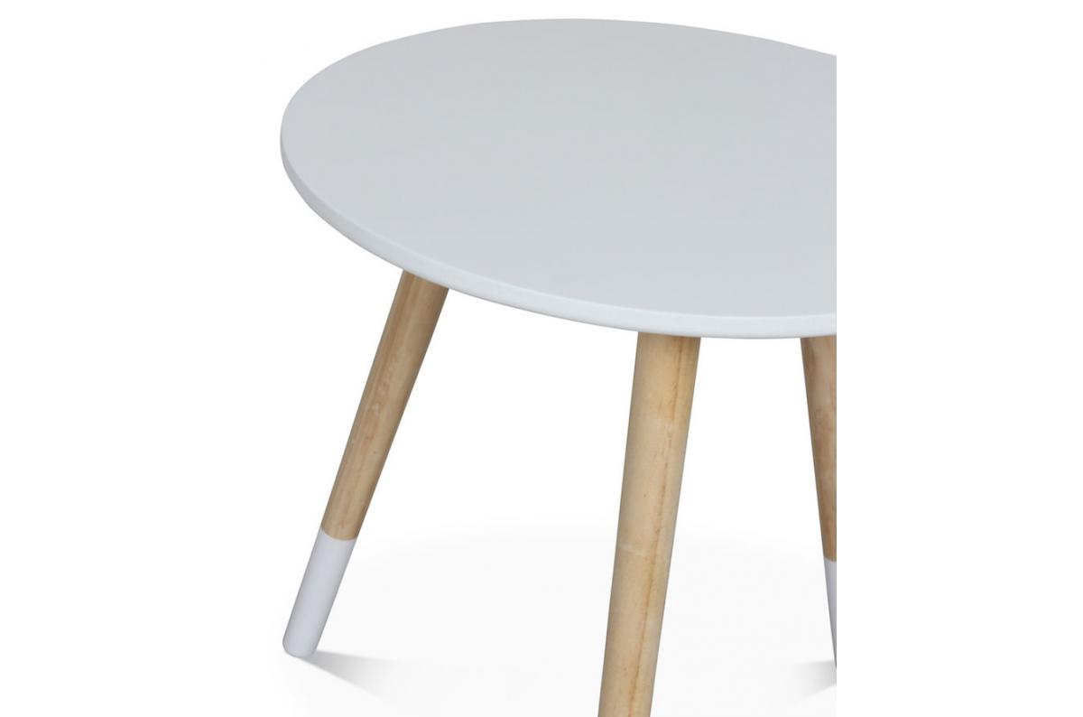 Table Basse Style Scandinave Blanche D40xh40 Teodor Plus D Infos