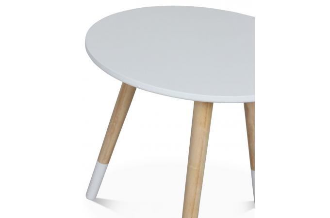 table basse style scandinave blanche d40xh40 teodor table basse pas cher. Black Bedroom Furniture Sets. Home Design Ideas