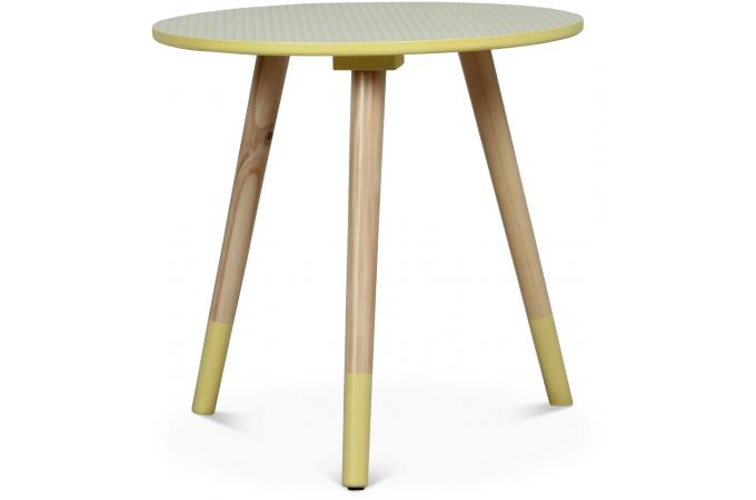 Table basse style scandinave jaune d40xh40 teodor table - Table basse style scandinave ...
