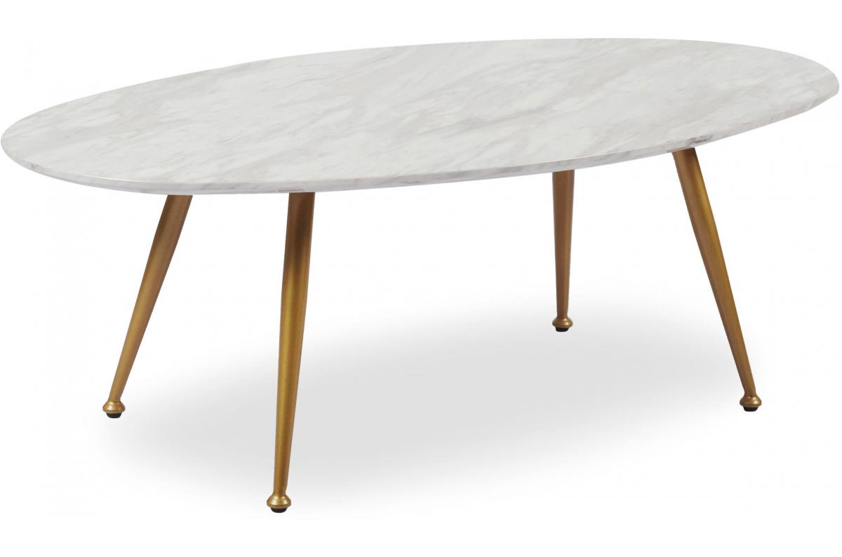 Table Basse Ovale Effet Marbre Dory Table Basse Pas Cher
