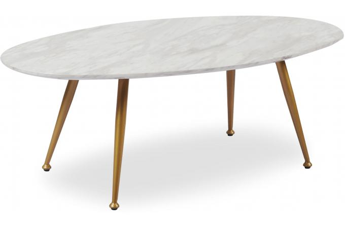 table basse ovale effet marbre dory table basse pas cher. Black Bedroom Furniture Sets. Home Design Ideas