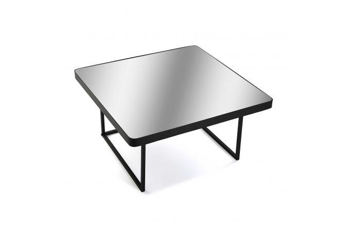 acheter pas cher af7f6 4fb6a Table Basse Plateau Miroir Métal Noir ESUS Plus d'infos