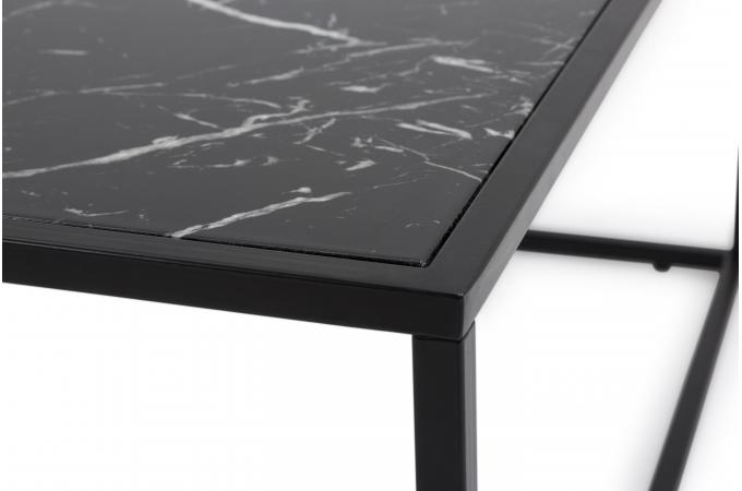 table basse plateau effet marbre noir fortune table. Black Bedroom Furniture Sets. Home Design Ideas