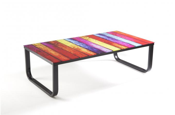 Table basse plateau verre east river table basse pas cher for Plateau verre table basse