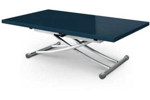 table basse relevable rallonge bleu laqu ella table relevable pas cher. Black Bedroom Furniture Sets. Home Design Ideas