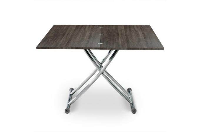 Table basse relevable rallonges bois vintager 4 - Table basse relevable a rallonge ...