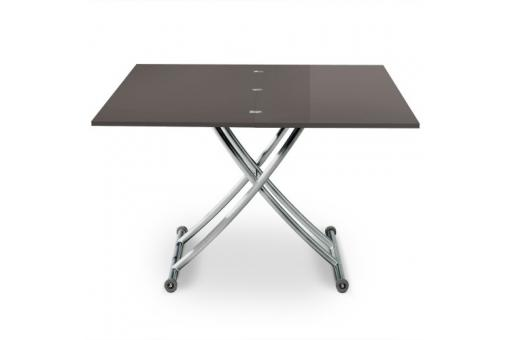 Table Basse Relevable À Rallonges Grise + 4 Chaises Grise BELLA
