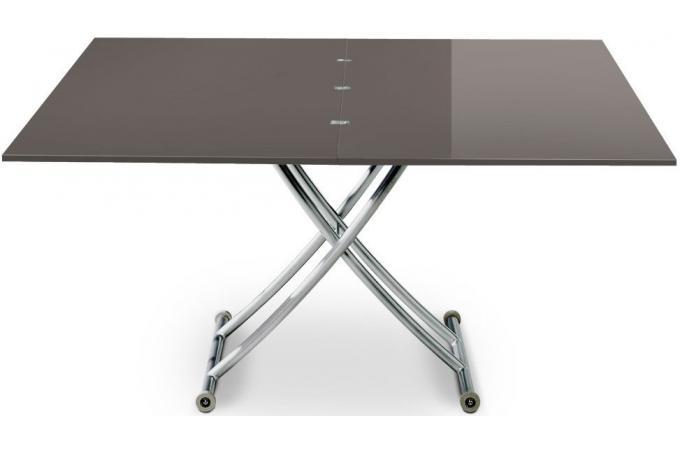 Table basse relevable rallonge gris fonc laqu ella table basse pas cher - Table basse relevable avec rallonge ...