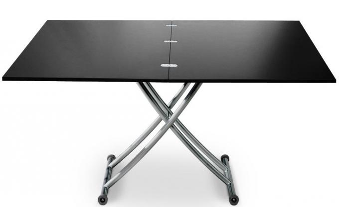 Table basse relevable rallonge noir carbone ella table basse pas cher - Table relevable rallonge ...