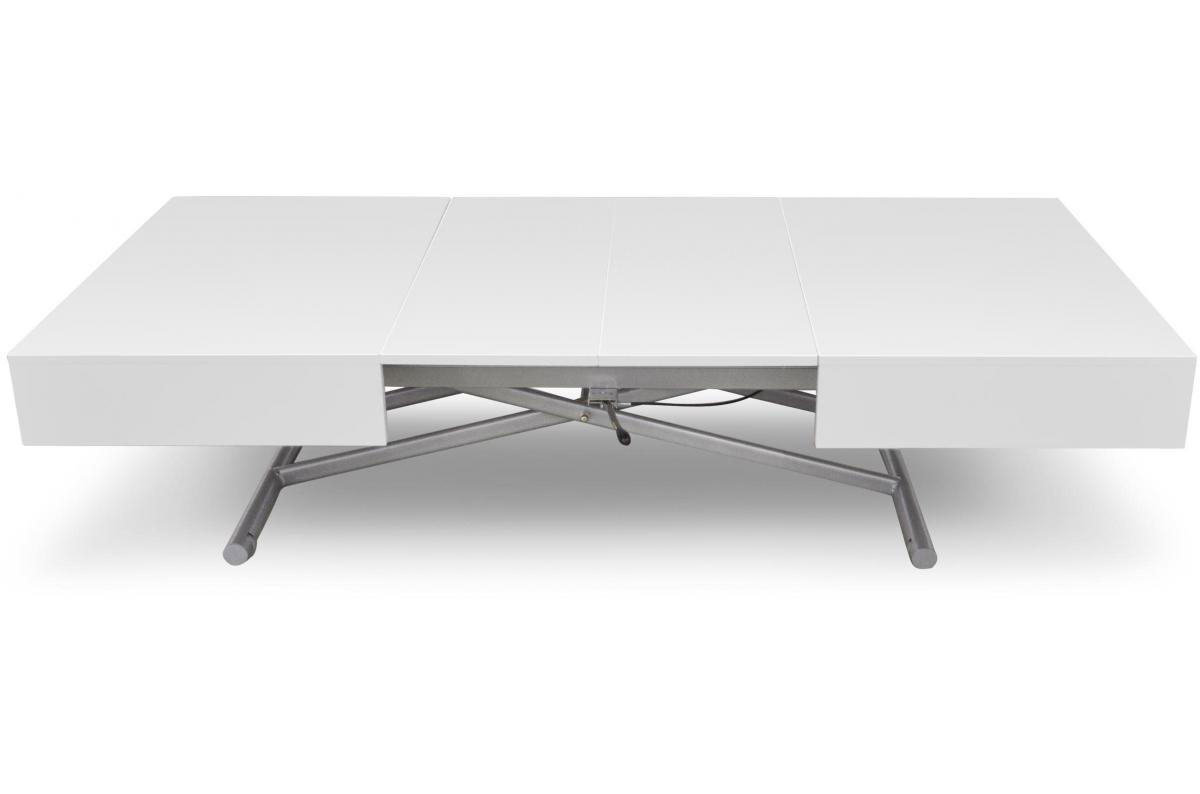 Table basse relevable blanc laqu cassy table basse pas cher Table relevable blanc laque