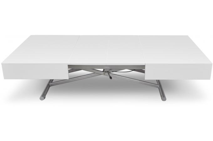 table basse relevable blanc laqu cassy table basse pas cher. Black Bedroom Furniture Sets. Home Design Ideas