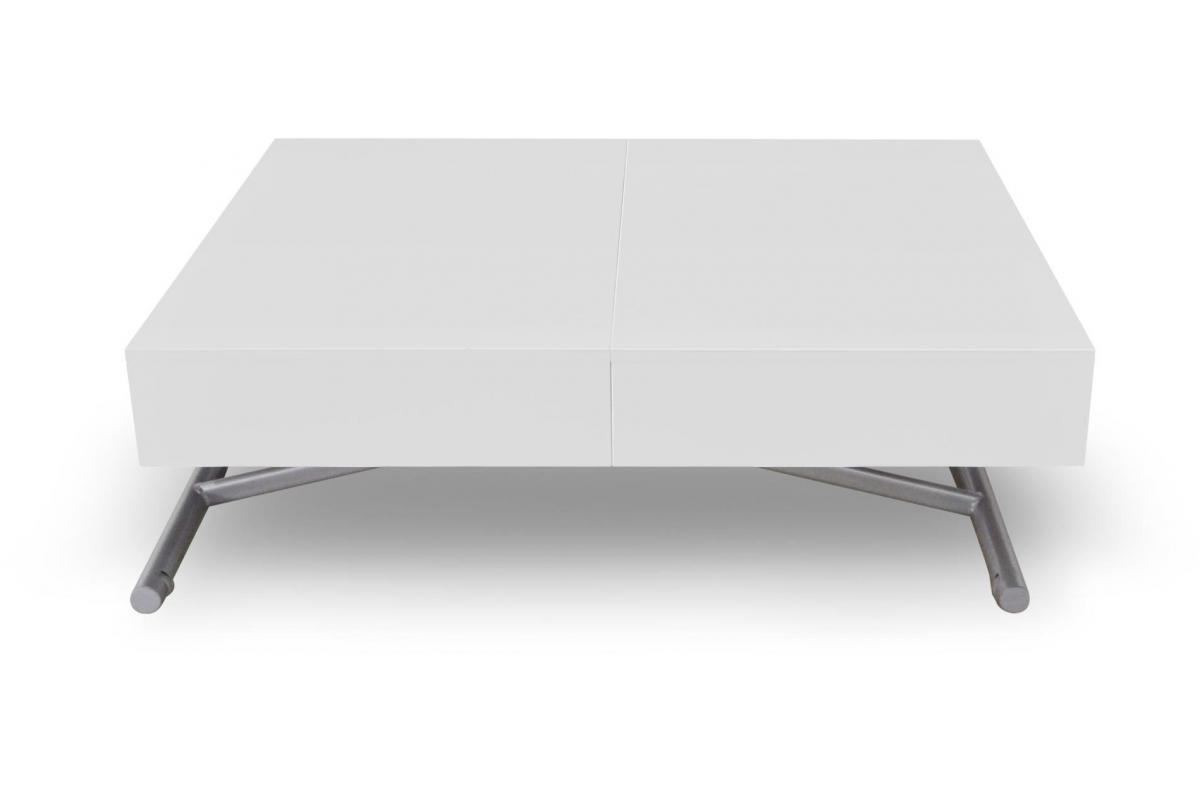 Table Basse Relevable Blanc Laque Cassy Table Basse Pas Cher