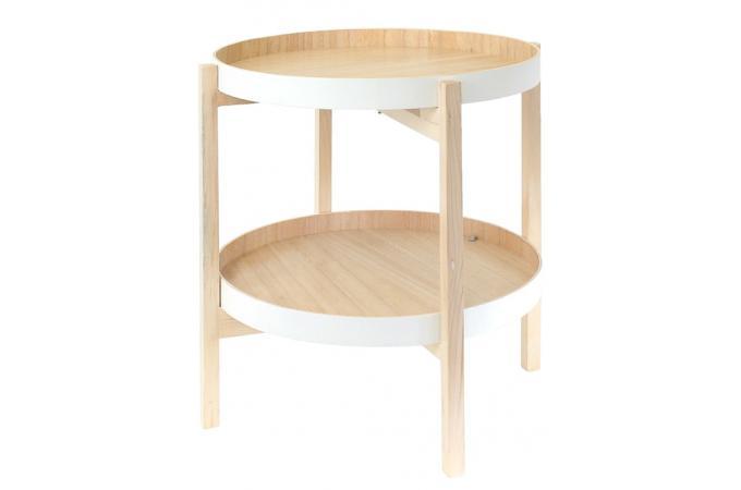 Table Basse Ronde Avec 2 Plateaux Orangerie Table Basse Pas Cher