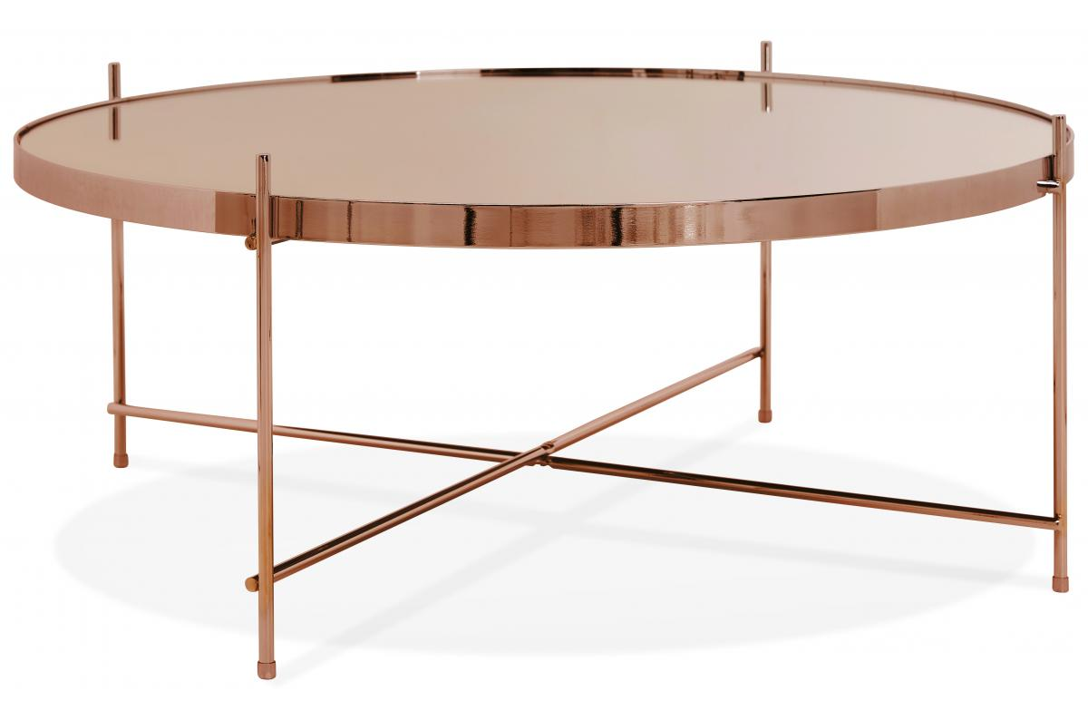 Grande Table Basse Bois table basse ronde grande en verre cuivre et piétement en métal wally plus  d'infos