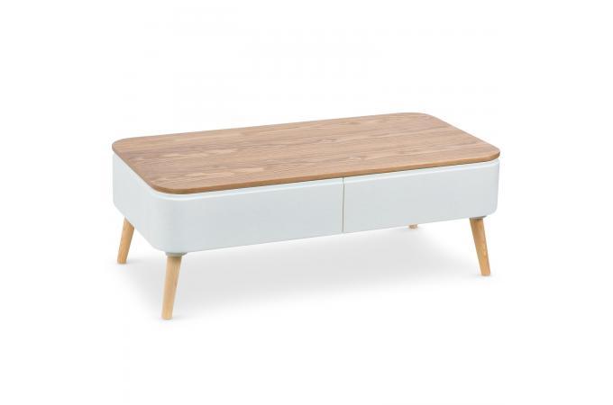 table basse scandinave bois blanc achumawi table basse. Black Bedroom Furniture Sets. Home Design Ideas
