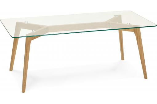 Table basse avec plateau en verre transparent FIORD - Table basse design